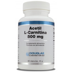 Acetil-L-Carnitina 500 mg. 60 cápsulas vegetarianas