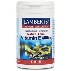 Vitamina E natural 400 u.l. 180 tabs.