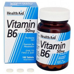 Vitamina B6 50mg. 100 comp. HealthAid