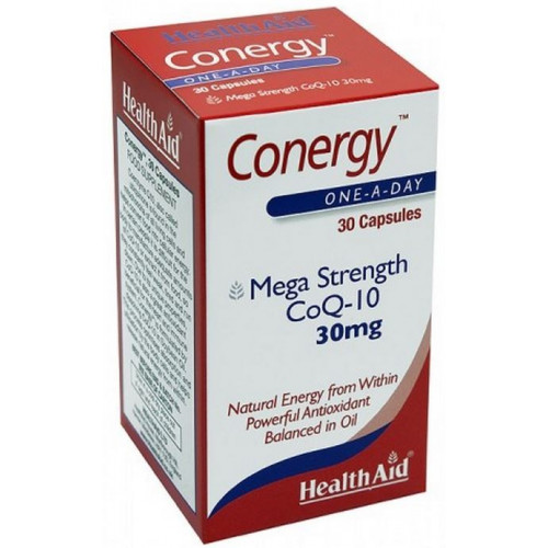 Conergy (Co Q10 30mg.) 30 cáps. HealthAid